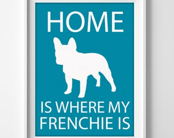 French Bulldog Wall Art, French Bulldog Decor, French Bulldog Design, Puppy French Bulldog, Puppy Print, French Gift, Custom Dog Breed Art