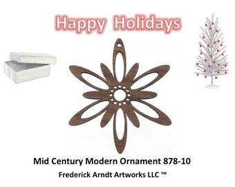 878-10 Mid Century Modern Christmas Ornament