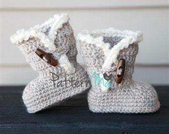Crochet Baby Boots Pattern #3