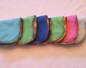 Cotton velour/Microfleece Cloth Wipes/Washcloths - Set of 6