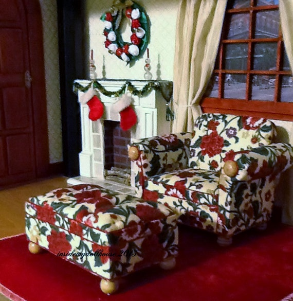 Overstuffed Chair and Ottoman Set for Barbie by