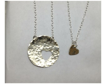 you have my heart.. mommy daughter necklace