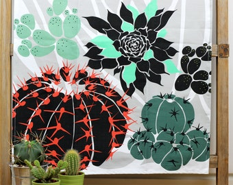Tea Towel - Cacti and Succulents