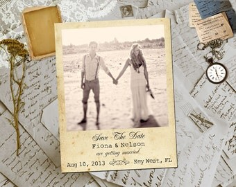 """Wedding Save The Date Magnets - KeyWest  Photo Personalized 4.25""""x5.5"""""""