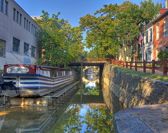 The Historic C&O Canal through Georgetown