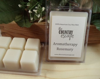 Rosemary Essential Oil Scented Soy Wax Candle Melt- Maximum Scented