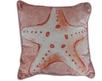 "Red and White Starfish Wedding Throw Pillow 10"" / Wedding Decorations / Wedding Decor / Wedding"