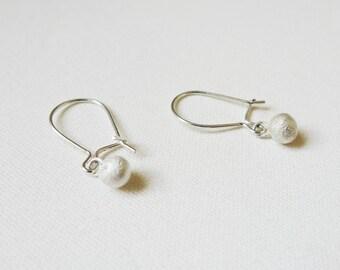 Punkt - Earrings, Beads of 925 Sterling Silver, minimalist