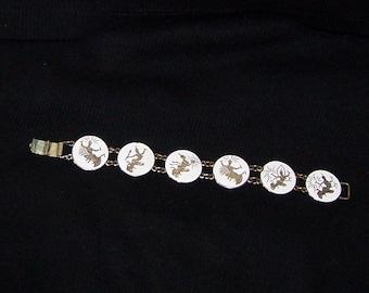Siam White Enamal Bracelet