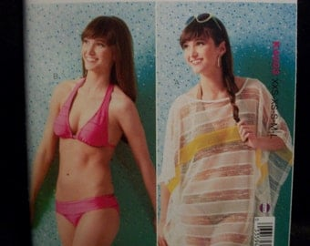 Kwik Sew K4003 Misses (xxs-xs-s-m-l) Cover Up and 2 Piece Swimsuit