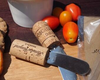 Wine cork appetizer spreader knives set of 4