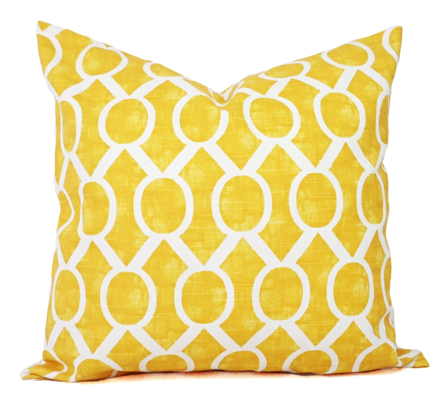 Yellow Pillow Covers Two Decorative Pillow Covers 16x16