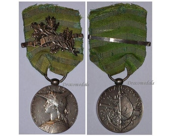 France Medal 2nd Madagascar Campaign w Clasp 1895 Commemorative Decoration French Military Colonial Award