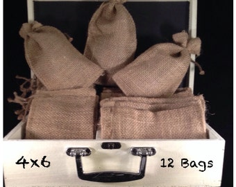 Burlap Bags 4x6 - 12 Ct.