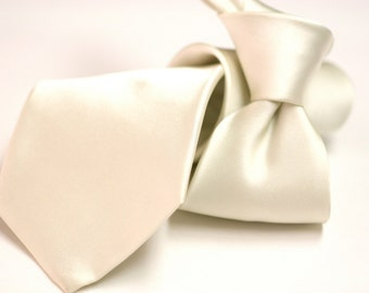 Ivory Silk Tie (2 inch or 3.75 inch widths)
