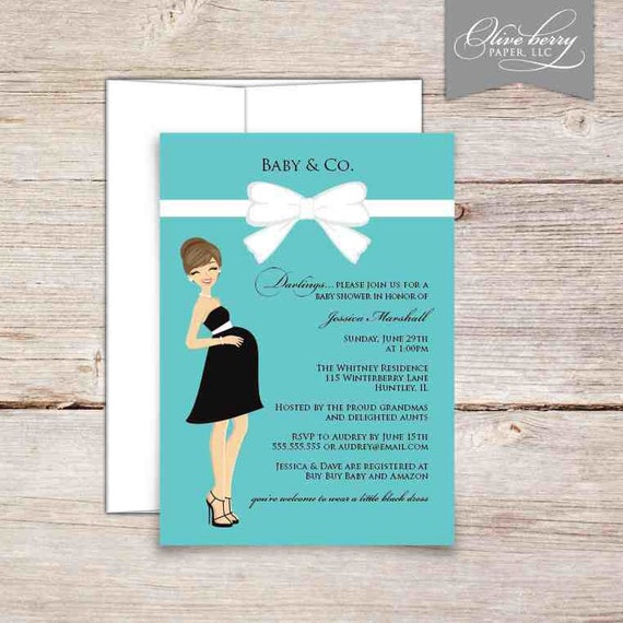 Items similar to Tiffany Baby Shower Invitations on Etsy