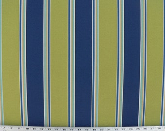 Outdoor Fabric, Drapery Fabric, Upholstery Fabric, Umbrella Fabric, Green/Blue/Yellow/White Stripe, Pillow Cushion/Shower Curtain Fabric