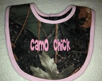 Camo Bib  - girls