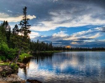 Fine Art Photography, Echo Lake Sunset, Print, Wall Art, Wall Decor, Nature, Landscape, art print