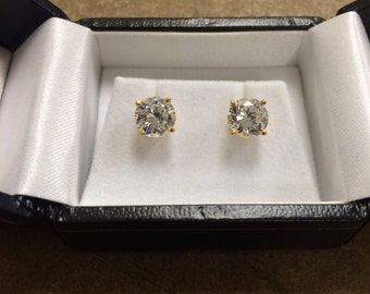 14k yellow Gold Studs (sale)