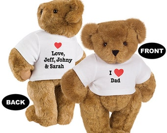 Custom Teddy Bear Tee printed on  front and back