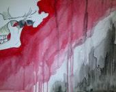 Jaw Articulation Original Painting, Wall Art, Medical Anatomy Watercolors