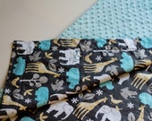Minky Blanket with Michael Miller Zoology cotton