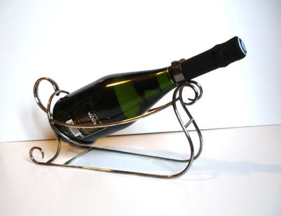 Silver Plated Wine Bottle Holder in Sleigh Form by Wiskemann