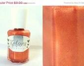 SALE Blood Orange Shimmer Indie Nail Polish Full Size