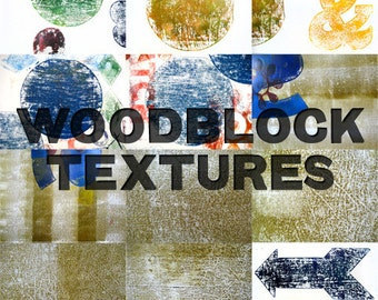 Woodblock Texture Pack High Resolution Photos