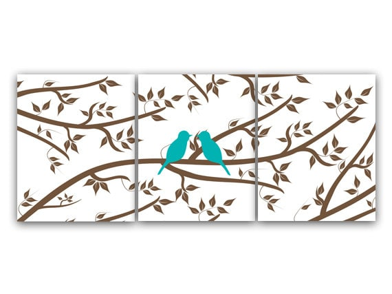 Aqua Bedroom Decor Home Decor Art INSTANT DOWNLOAD Love Bird