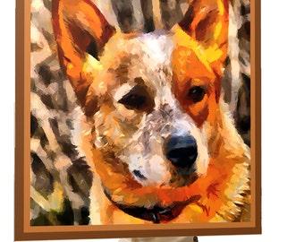 Red Heeler - Australian Cattle Dog Night Light