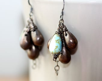 Copper Waterfall Earrings
