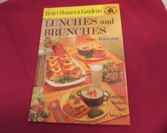 Better Homes and Gardens LUNCHES AND BRUNCHES Cookbook 1963