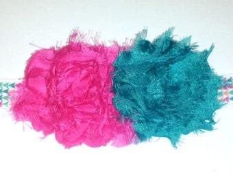Pink Teal Headband