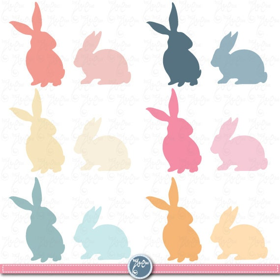 clipart image easter bunny silhouette - photo #47