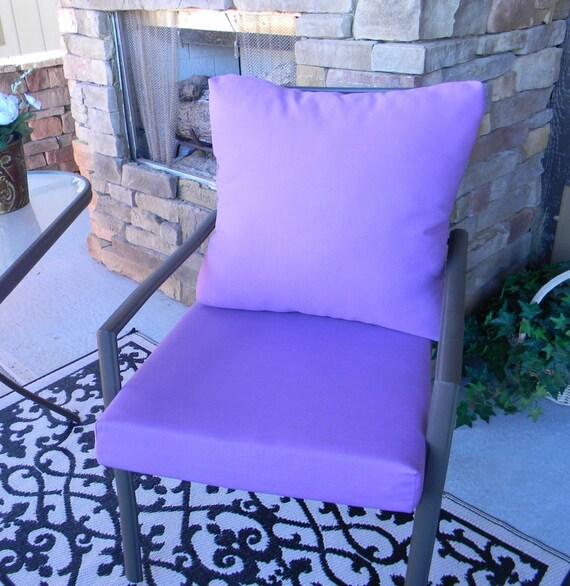 Outdoor Solid Lavender Purple Foam Cushion Back Pillow Set