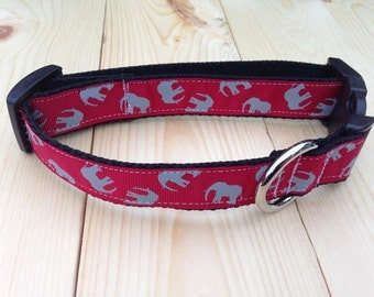 University Of Alabama Football Elephant Dog Collar, Roll Tide, Bama