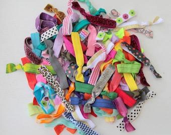 Elastic Ribbon Hair Ties- Set of 50 GRAB BAG