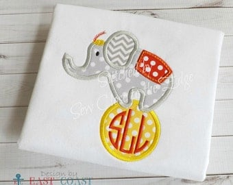 CIRCUS ELEPHANT Machine embroidery design