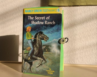 Hardcover Book Upcycled Clutch Handbag - Nancy Drew - The Secret of Shadow Ranch