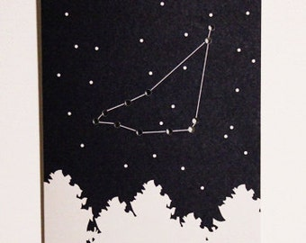 Zodiac Constellation Card (Capricorn)