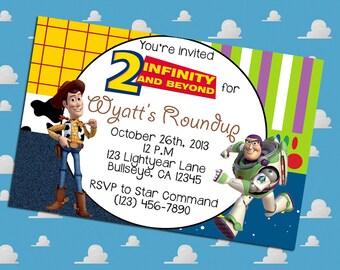 Toy Story Buzz and Woody Birthday Invitation