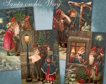 Santa on his Way - Digital Download