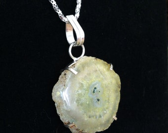 Yellow Solar Quartz Freeform Pendant