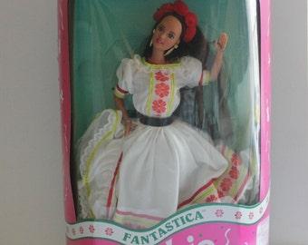 Fantastica Barbie| Vintage  Fantastica Mexican Barbie1992|Ethnic Barbie Doll|International Barbie Doll Mexico|Mint Condition Barbie Doll