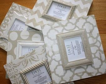 moroccan frames, damask frames, painted frames, frame collage, neutral frames, distressed frames
