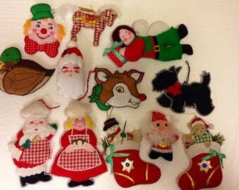 Vintage Christmas ornament collection