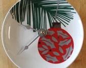 Christmas Tree Plate Clock
