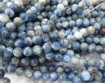 natural kyanite gemstone 6mm 8mm 10mm  16inch strand ,high quality round ball blue jewelry beads